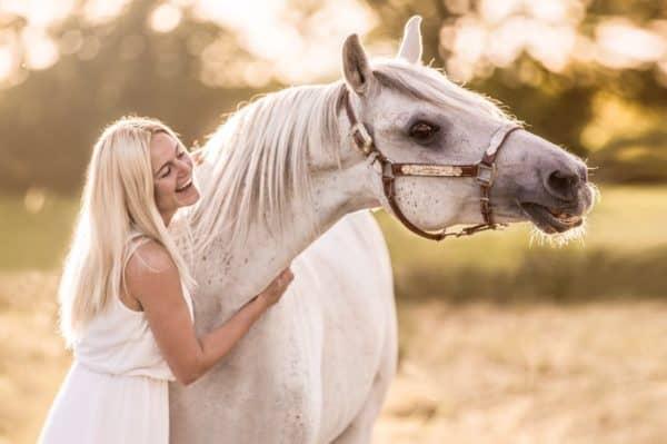 Judith mit ihrem Seelenpferd